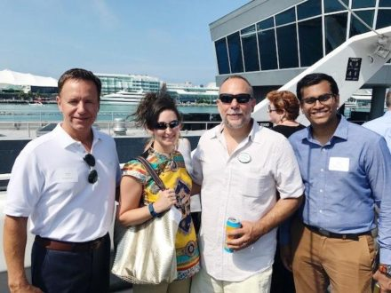 ICNC Executive Director Steve DeBretto with Advitam IP team members Richard, Michele and Paras